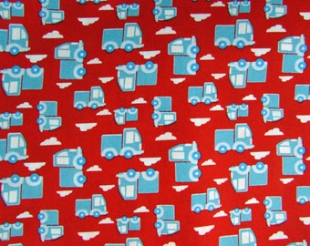 2 Yards Trucks on the Go Fabric Remnant/Bolt End 849