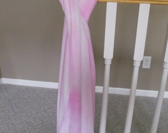 Hand Dyed Pink Scarf