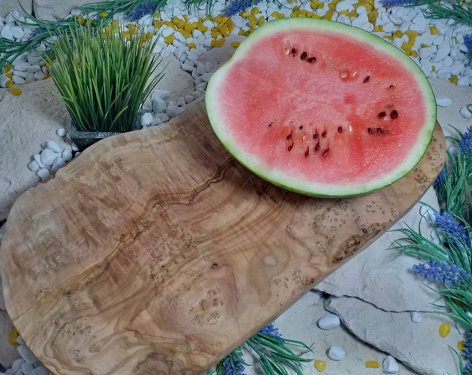 Cutting board olive wood natural cut 30 cm natural wood solid unique