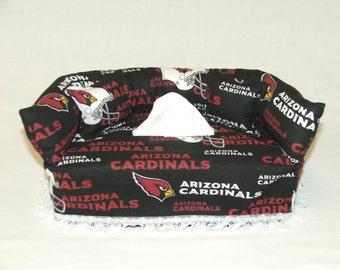 Arizona Cardinals NFL Licensed fabric tissue box cover.