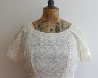Vtg 50's Lace Day Dress