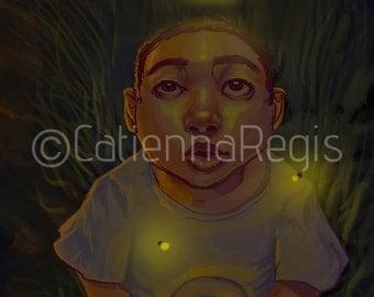 Fireflies Print