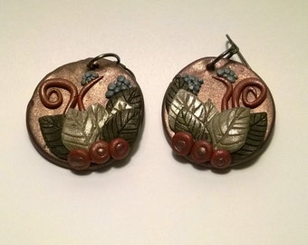 Wispy Leaf Earrings
