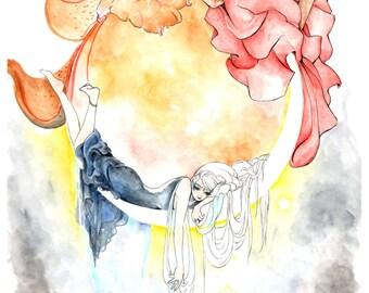 Sol & Luna Print A4