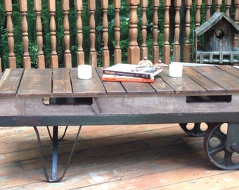 Southern Flush Designs by S.F.A.A. LLC: Antique Trolley Cart Coffee Table