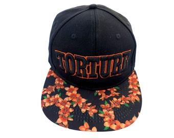 Orange and Black Floral Torture Baseball cap San Francisco Giants