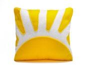 "You Are My Sunshine Felt Pillow, 12""x14"" Decorative Pillow, throw pillow"