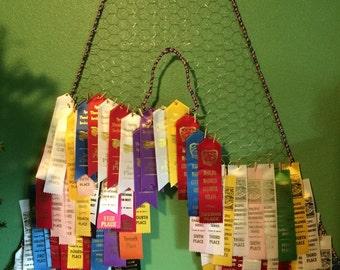 Ribbon display, ribbon hanger, ribbon holder, medal hanger, medal display, photo display, swimming, horseback, track, swim ribbons