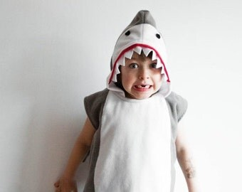 Shark Costume, Halloween Costume, Party Costume, Halloween Costume for Boys or Girls, Toddler Costume, Shark Fin