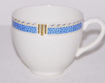 Empire England August 1949 porcelain cup creamware with blue band