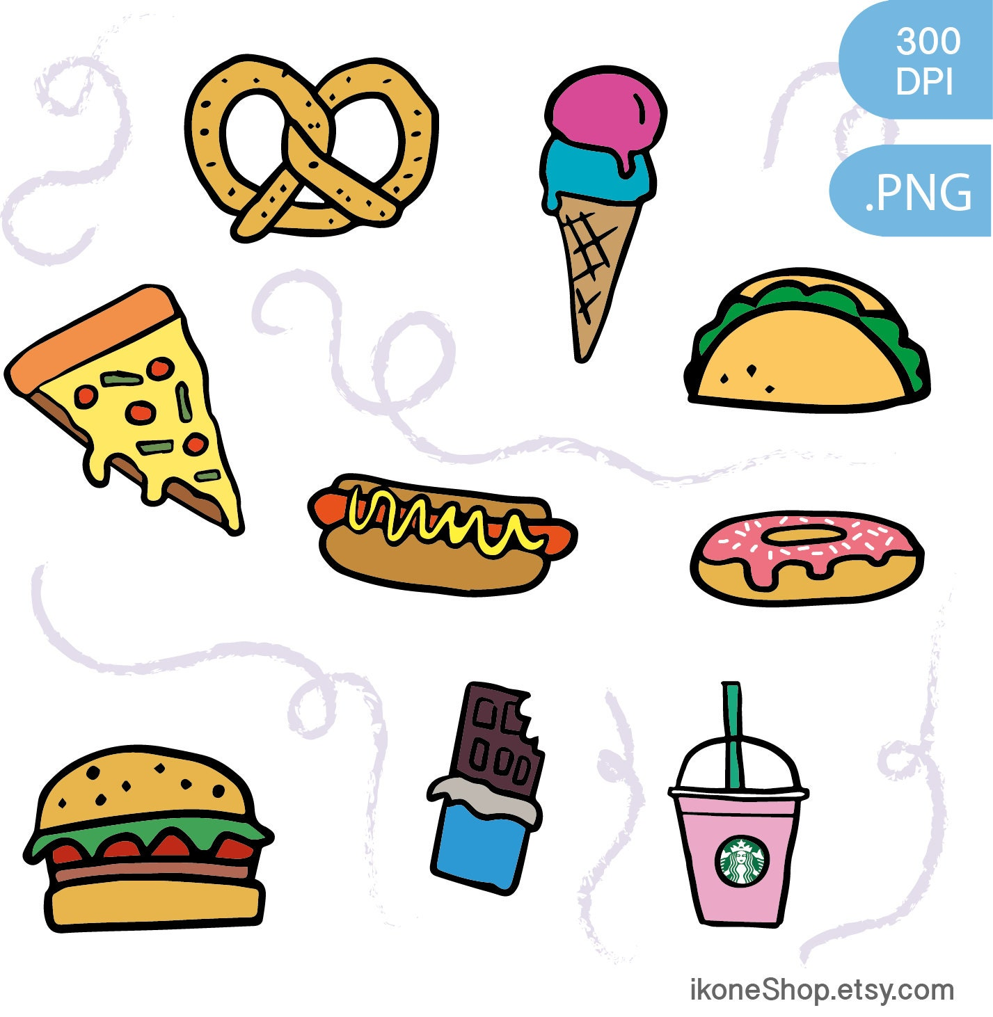 junk food clipart fast food and sweets digital stickers eating junk food clipart junk food clip art