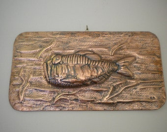 Copper Fish sculpture painting