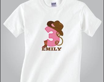 Personalized Cowgirl Birthday Shirt Western Birthday Shirt