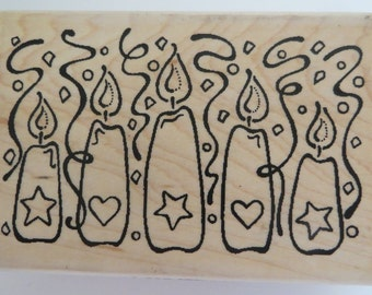 Funstamps Birthday Candles rubber stamp