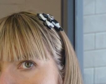 black hair band || white head band || hairband || headband || bow hairband || black bow ||white bow || hair accessory