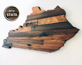 Rustic Wood State Cut Out, Large State Cutout, Wood State Outline, Wooden State Sign, State Art, State Cutout, State Wall Decor, State Love