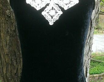 Black velvet halter