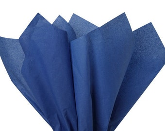 """Dark Blue Tissue Paper 480 sheets 100% Recycled 20""""x30"""" Wholesale Packaging Gift Wrap Weddings"""