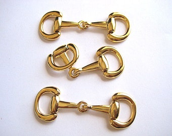 3 X-Large Gold Plated High Quality Snaffle Bit--Make Fabulous Equestrian Jewelry