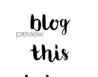 I'll Blog This Later Digital Print 8x10