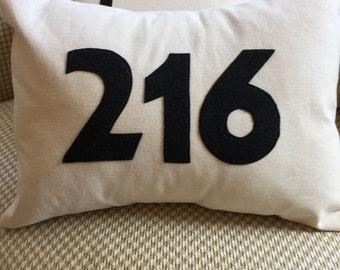 Area code pillow