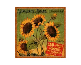 Sunflower Sign- Rustic Sunflower Sign