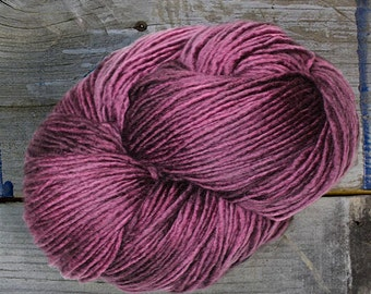 Blackberry - Hand Dyed Superwash Merino DK Single Ply Yarn