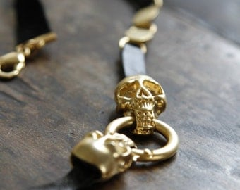 Skull Leather Necklace