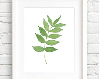 Ash Leaf Art Print - Wall Decor - Watercolor Painting