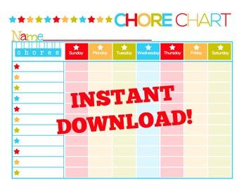 Kids Printable Chore Chart