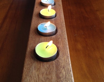 Timber Citronella Tea Light Holder Made From Recycled Door Jambs
