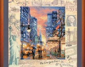 "Cross Stitch Kit by RIOLIS   ""Cities of the World. New York»"