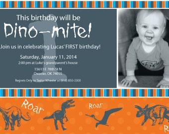 Dinosour Birthday Invitation