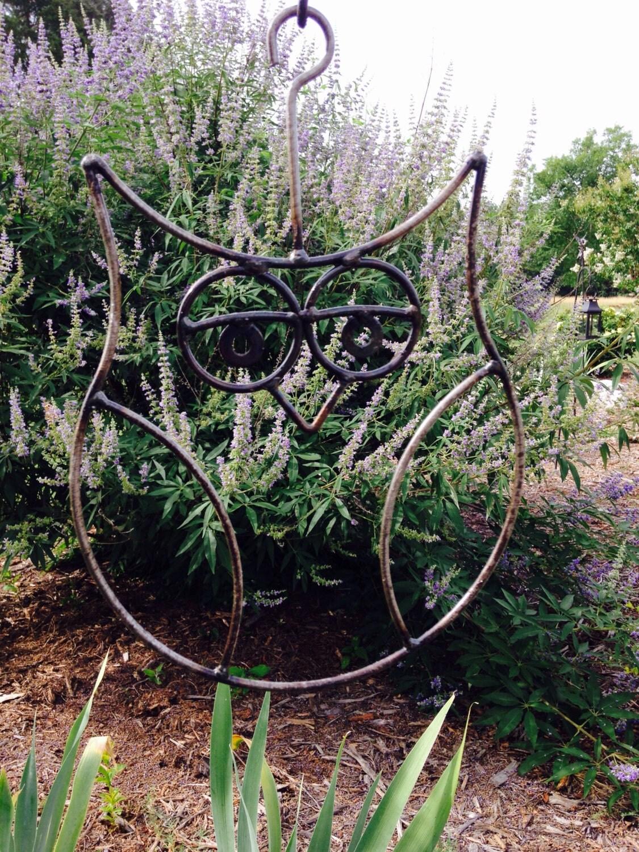 Metal Hanging Owl Yard Art Garden Decor Metal Sculpture