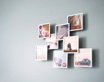 Floating Square Photo Frame ( set of 3)