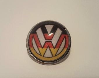 German flag colored VW emblem