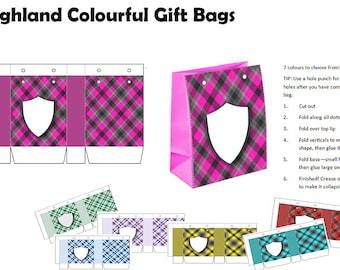 Printable Gift Bags A4 printable PDF