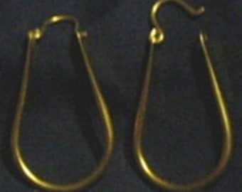 HANDCRAFTED HOOPS EARRINGS  this is brass # 5