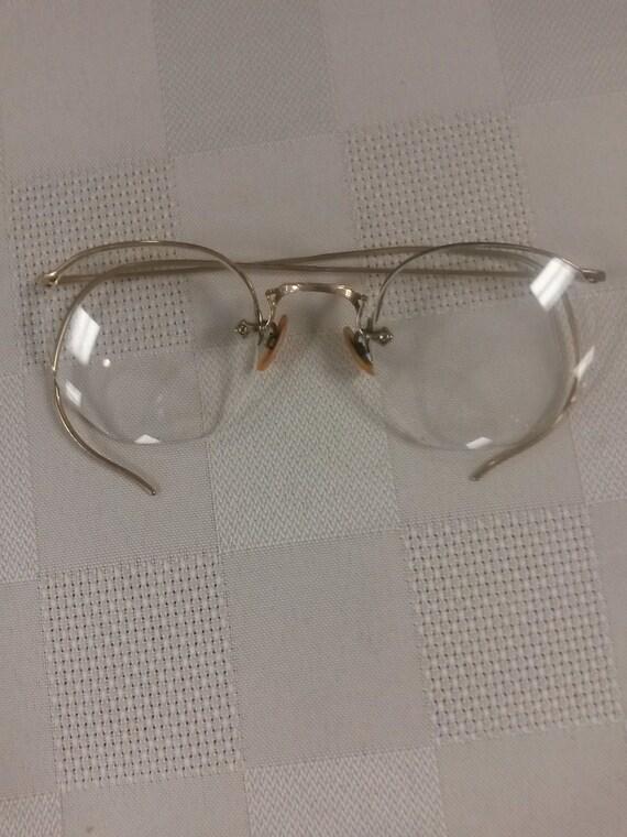 Art craft vintage 12kgf eyeglasses semi rimless by for Art craft eyeglasses vintage