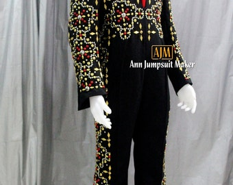 Conquistador Elvis Jumpsuit(Black Way Down)