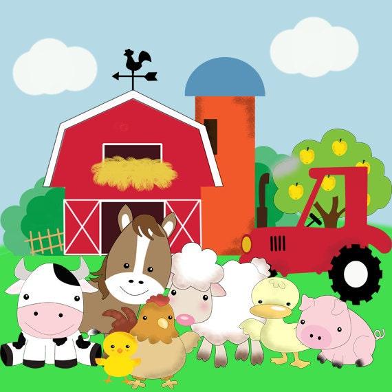 Kit imprimible animales de la granja fiesta - Casa rural la granja ...
