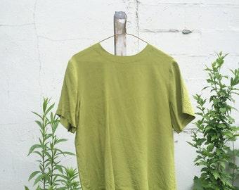 100% Silk Top Size Small Avocado Green