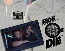 Furious 7 Fast and Furious Inspired Hoodie Torettos Market and cafe Ride or Die Original Design Screenprint