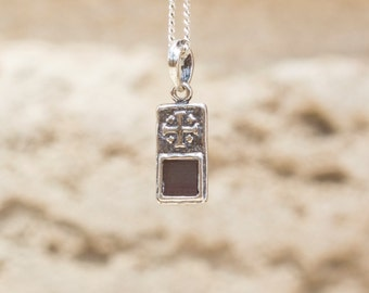 JNB Gentle Cross, Sterling Silver with Sterling Silver Cross, with New Testament Nano Bible