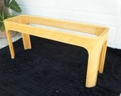 """Vintage bamboo rattan pencil reed console table 60"""" x 18"""" & 26"""" tall"""