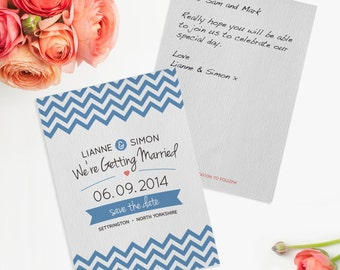 Chevron Wedding Save The Date