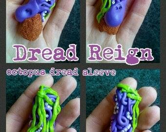Purple Octopus Dreadlock sleeve bead