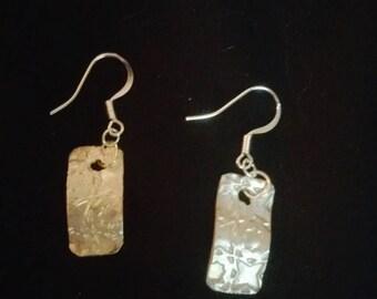 "Beautiful hand made fine silver earrings approx. 1"" long"