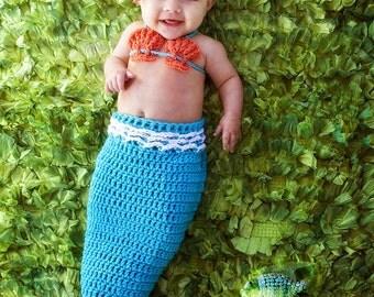 Newborn baby mermaid outfit
