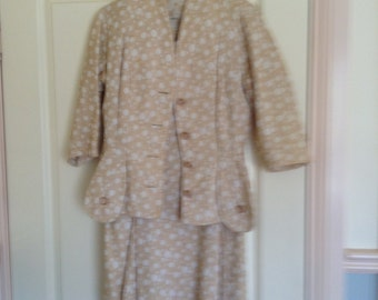 1940's vintage womens suit skirt and jacket